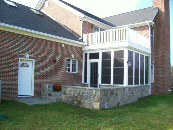 Home Additions Pics Porches Clarksburg Md Chf Deck Co