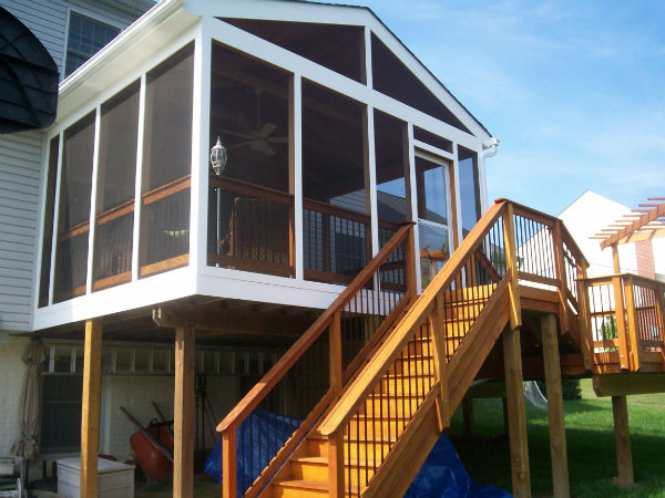 Screen porches pics clarksburg md chf deck co for Porches login